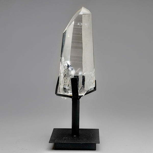 Natural Lemurian Quartz Crystal on Stand From Brazil (4 lb)