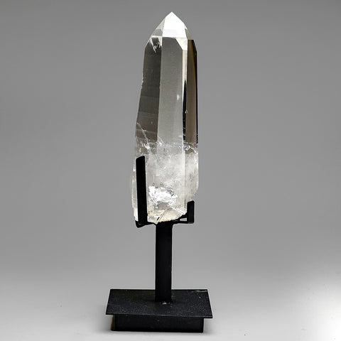 Natural Lemurian Quartz Crystal on Stand From Brazil (3.5 lb)