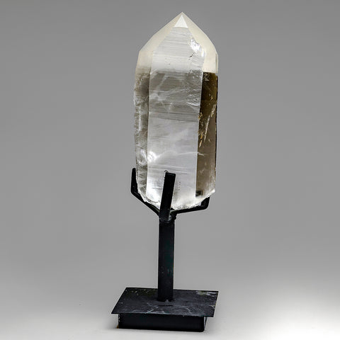 Natural Lemurian Quartz Crystal on Stand From Brazil (6 lb)