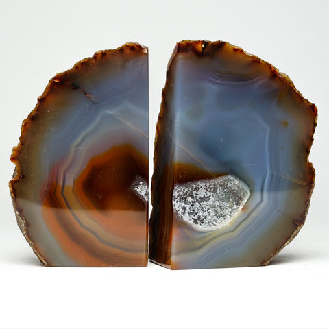 Natural Agate Bookends from Brazil (2.5 lbs)
