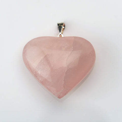 Rose Quartz Heart Shaped Pendant
