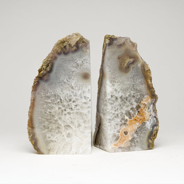 Natural Banded Agate Bookends from Brazil (4 lbs)