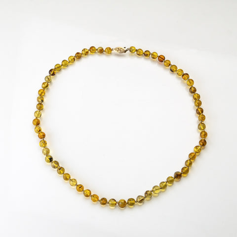 Genuine Baltic Amber Bead 24 Inch Necklace