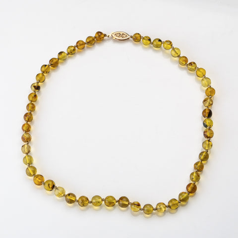 Genuine Baltic Amber Bead 20 Inch Necklace