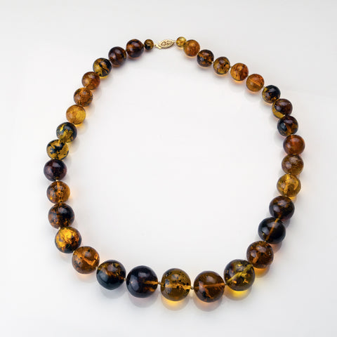 Genuine Baltic Amber Bead 26 Inch Necklace