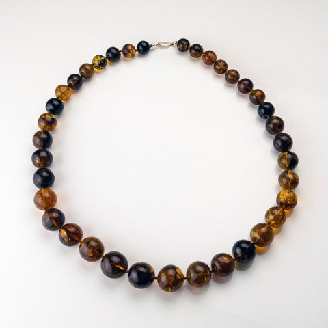 Genuine Baltic Amber Bead 32 Inch Necklace