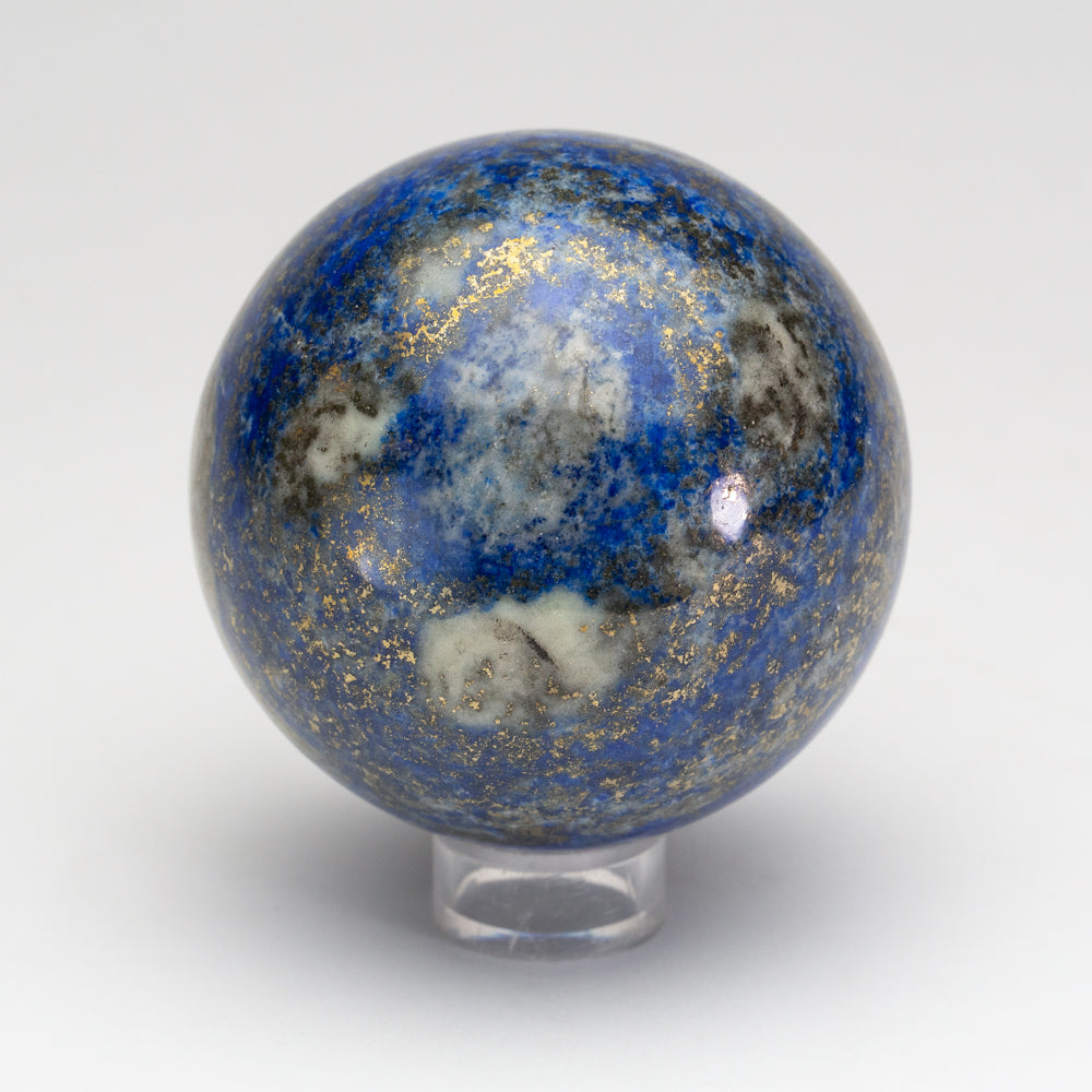 Polished Lapis Lazuli Sphere from Afghanistan (3'', 1.6 lbs)