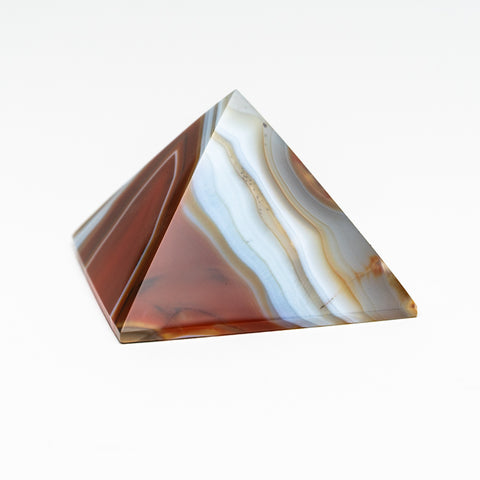 Natural Agate Pyramid from Brazil (135.3 grams)