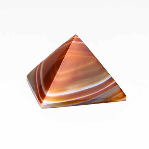 Natural Agate Pyramid from Brazil (109.6 grams)
