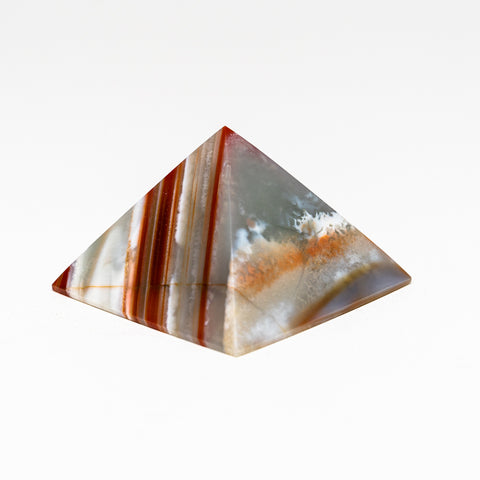 Natural Agate Pyramid from Brazil (140.8 grams)