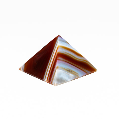 Natural Agate Pyramid from Brazil (153.8 grams)
