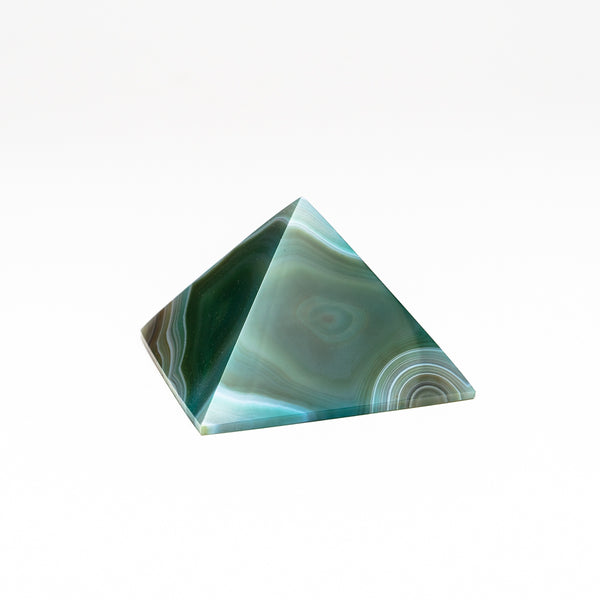 Green Agate Pyramid from Brazil (179 grams)