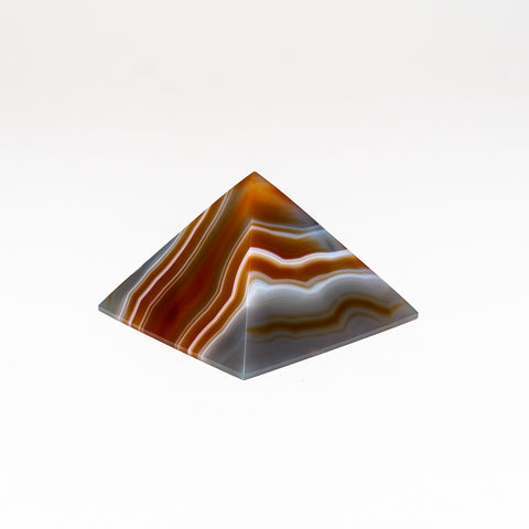 Natural Agate Pyramid from Brazil (164 grams)