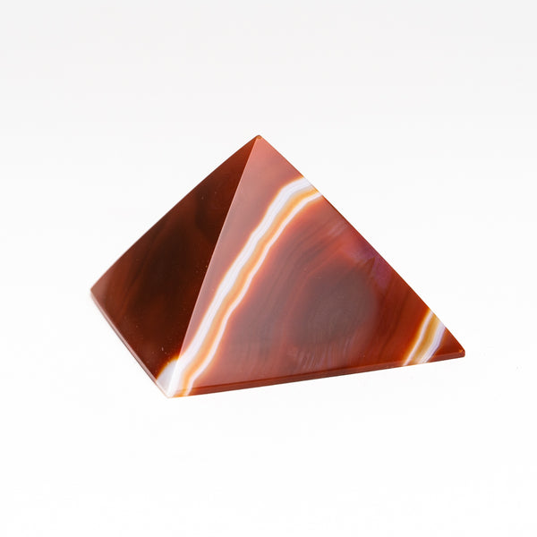 Natural Agate Pyramid from Brazil (174 grams)