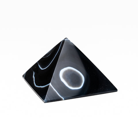 Black Agate Pyramid from Brazil (215.2 grams)