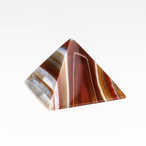 Natural Agate Pyramid from Brazil (170.8 grams)