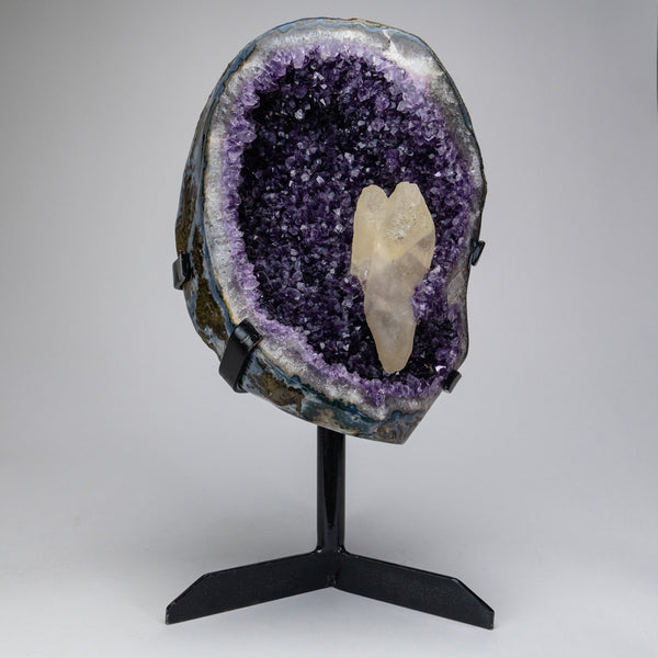 Amethyst Cluster with Calcite on Stand from Brazil (22 lbs)