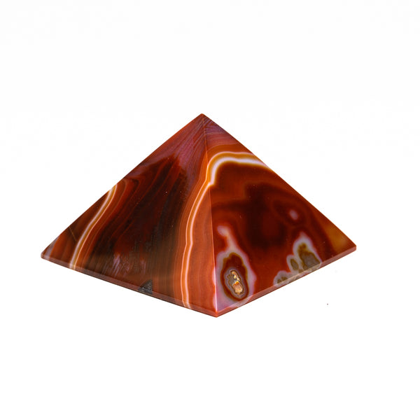Natural Agate Pyramid from Brazil (183.4 grams)