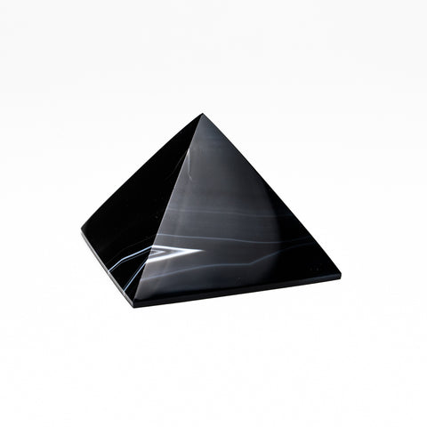 Black Agate Pyramid from Brazil (256.8 grams)