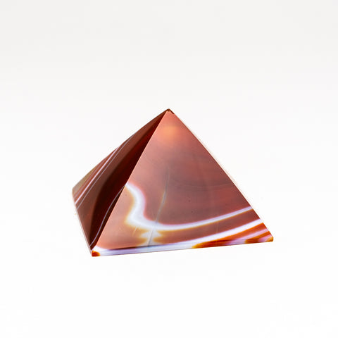 Natural Agate Pyramid from Brazil (168.9 grams)