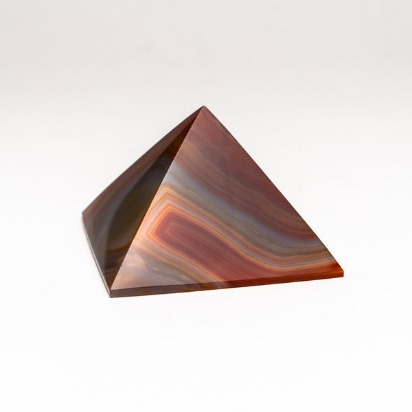 Natural Agate Pyramid from Brazil (281 grams)