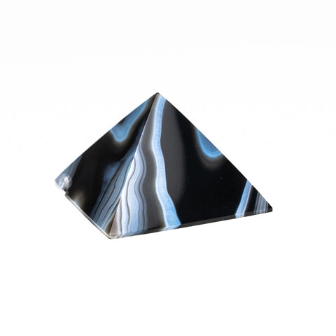 Black Agate Pyramid from Brazil (164.2 grams)
