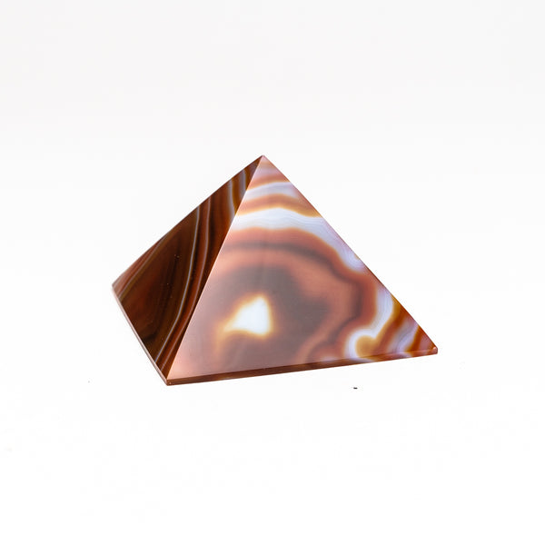 Natutral Agate Pyramid from Brazil (214.8 grams)