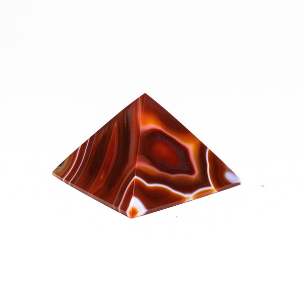 Natutral Agate Pyramid from Brazil (171.7 grams)