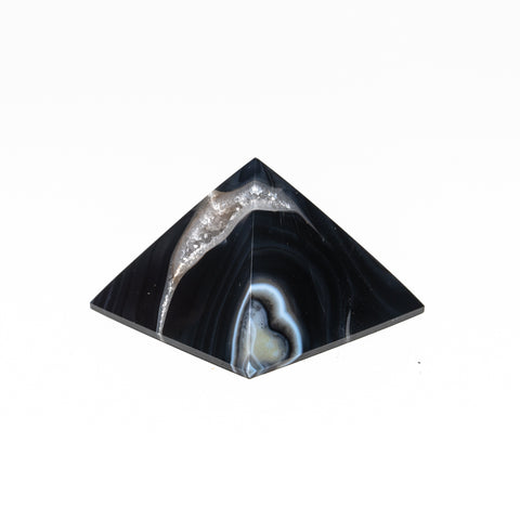 Black Agate Pyramid from Brazil (157 grams)