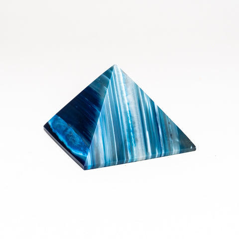 Blue Agate Pyramid from Brazil (289.7 grams)