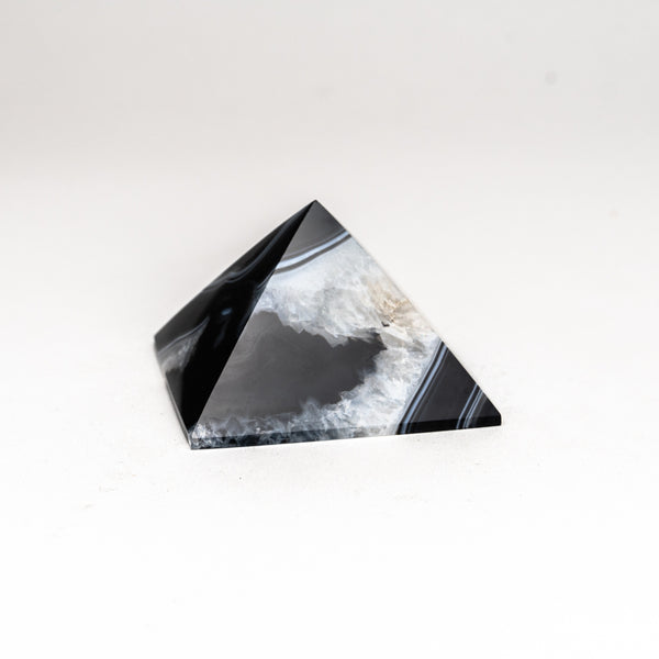 Black Agate Pyramid from Brazil (213.2 grams)