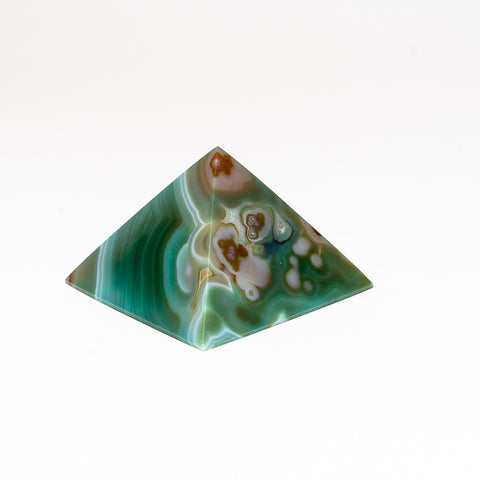 Green Agate Pyramid from Brazil (207.1 grams)