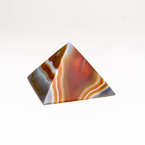 Natural Agate Pyramid from Brazil (258.6 grams)