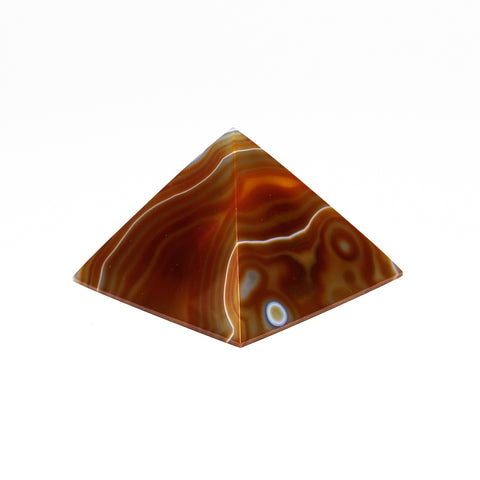 Natural Agate Pyramid from Brazil (268.4 grams)