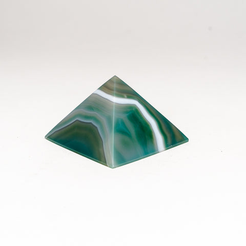 Green Agate Pyramid from Brazil (182.6 grams)