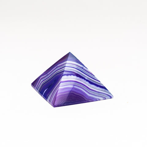 Purple Agate Pyramid from Brazil (79.3 grams)