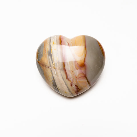 Polychrome Jasper Heart from Madagascar (613.6 grams)