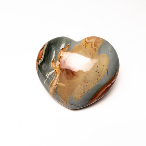Polychrome Jasper Heart from Madagascar (632 grams)