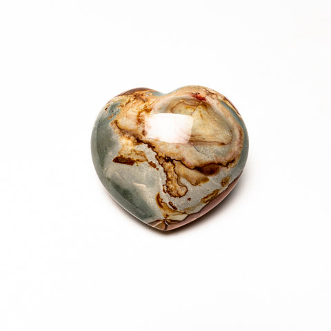 Polychrome Jasper Heart from Madagascar (594 grams)