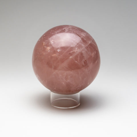 "Polished Rose Quartz Sphere from Madagascar (4.5"" Diameter, 4 lbs)"