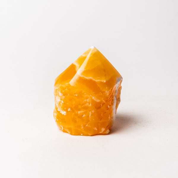 Orange Calcite Point from Mexico (418.8 grams)