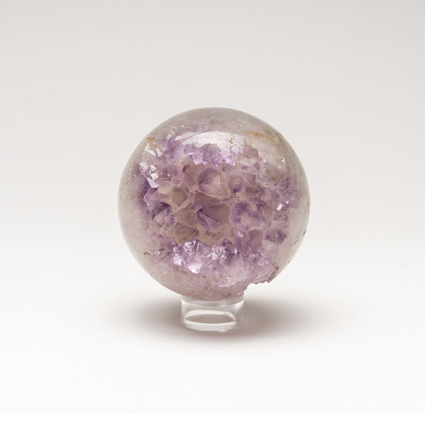 "Amethyst Geode Agate Sphere from Brazil (3"" diameter, 541.4 grams)"