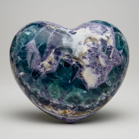 Rainbow Fluorite Heart From Mexico (3 lbs)
