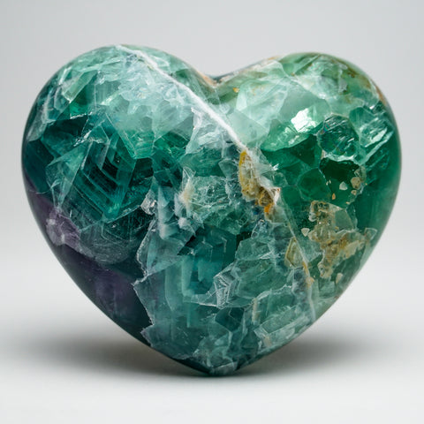 Rainbow Fluorite Heart From Mexico (2 lbs)