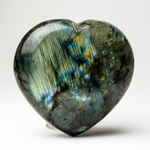Polished Labradorite Heart (589.7 grams)