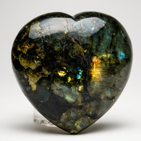 Polished Labradorite Heart (512.8 grams)
