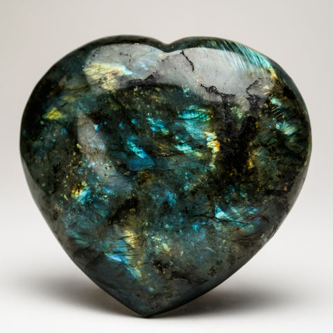 Polished Labradorite Heart (662 grams)