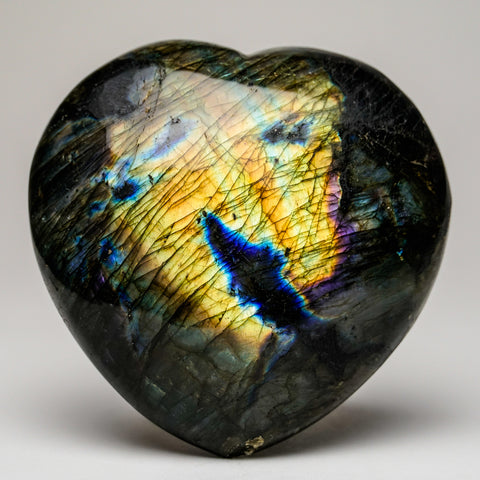 Polished Labradorite Heart (665.2 grams)