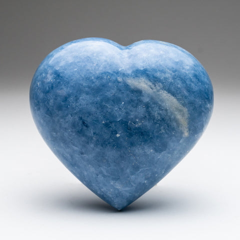 Blue Calcite Heart from Mexico (1.6 lbs)