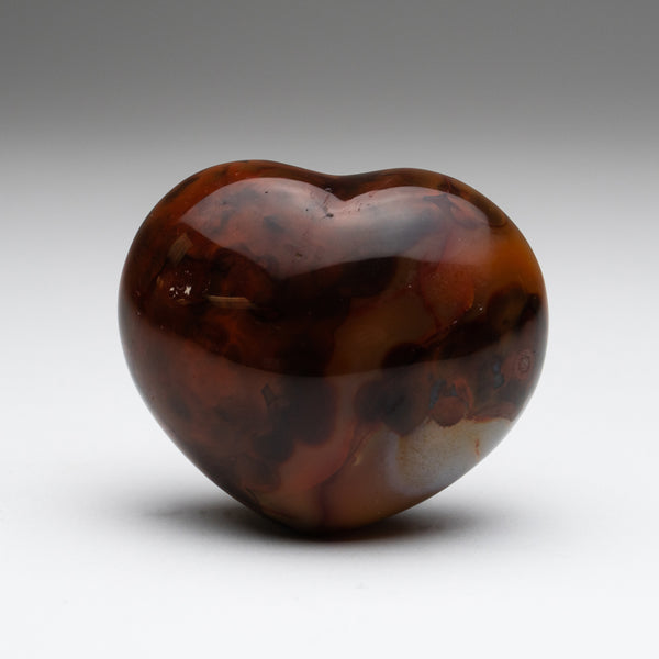 Gem Carnelian Agate Heart (221.4 grams)